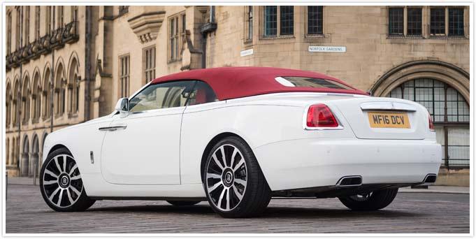 Rolls Royce Dawn Convertible Self Drive Rental Bradford Leeds